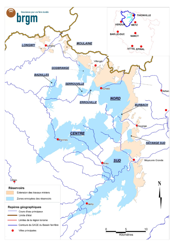 Réservoirs miniers, activités minières, ressources en eau