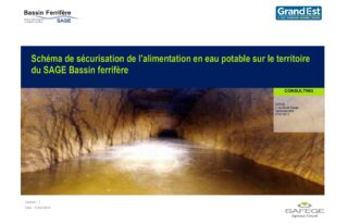 Schéma de sécurisation de l'alimentation en eau potable sur le territoire du SAGE Bassin Ferrifère